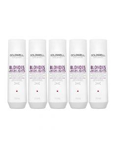10x Goldwell Dualsenses Blondes & Highlights Anti-Yellow Shampoo 250ml