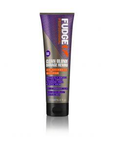 Fudge Clean Blonde Damage Rewind Violet-Toning Shampoo 250ml