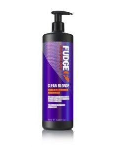 Fudge Clean Blonde Violet-Toning Shampoo 1000ml