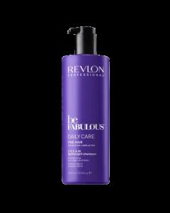 Revlon Be Fabulous Daily Care Fine Cream Shampoo 1000ml
