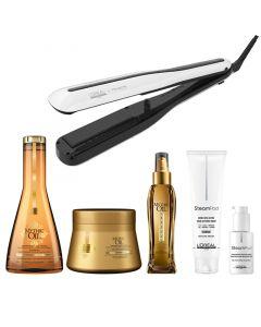 L'Oréal Steampod 3.0  set + Mythic Oil set - fijn haar