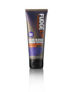 Fudge Clean Blonde Damage Rewind Toning-Violet Shampoo 50ml