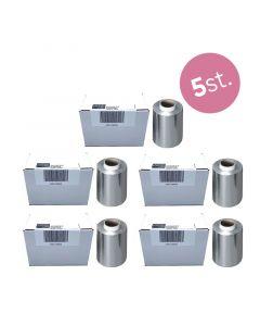 5x Kapperskorting.com Aluminiumfolie zilver 250m x12 cm x15 my