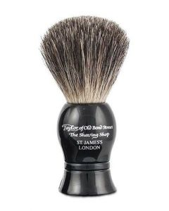 Taylor of Old Bond Street Scheerkwast Pure Badger zwart 9.5mm