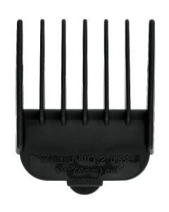 Wahl Opzetkam nr. 2 plastic zwart 6mm